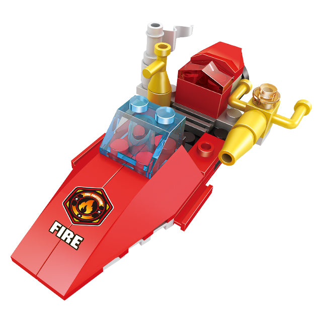 Fire station building block toys-4