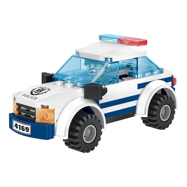 police station catching building block toys-2