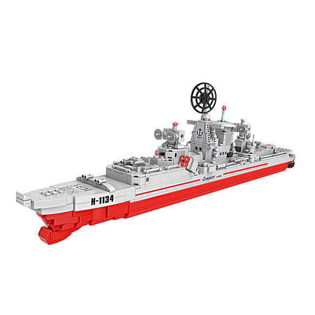 Military warship educational Building Blocks toys for kids-1