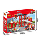 New style fire station puzzle building bricks kids toys set for gift-6
