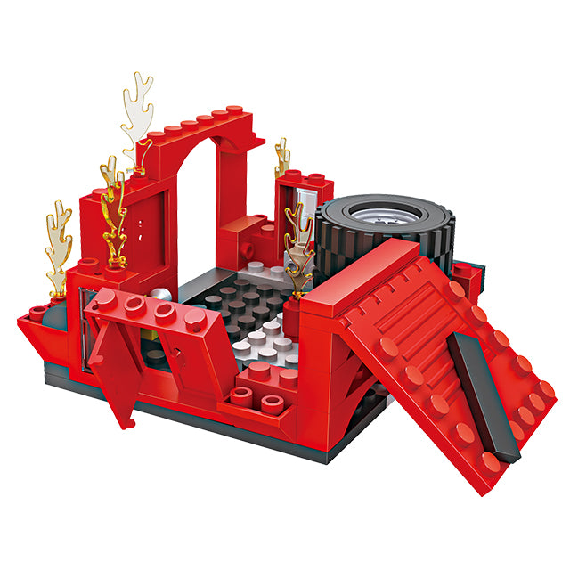 legoing fire fighting truck building block toys-4
