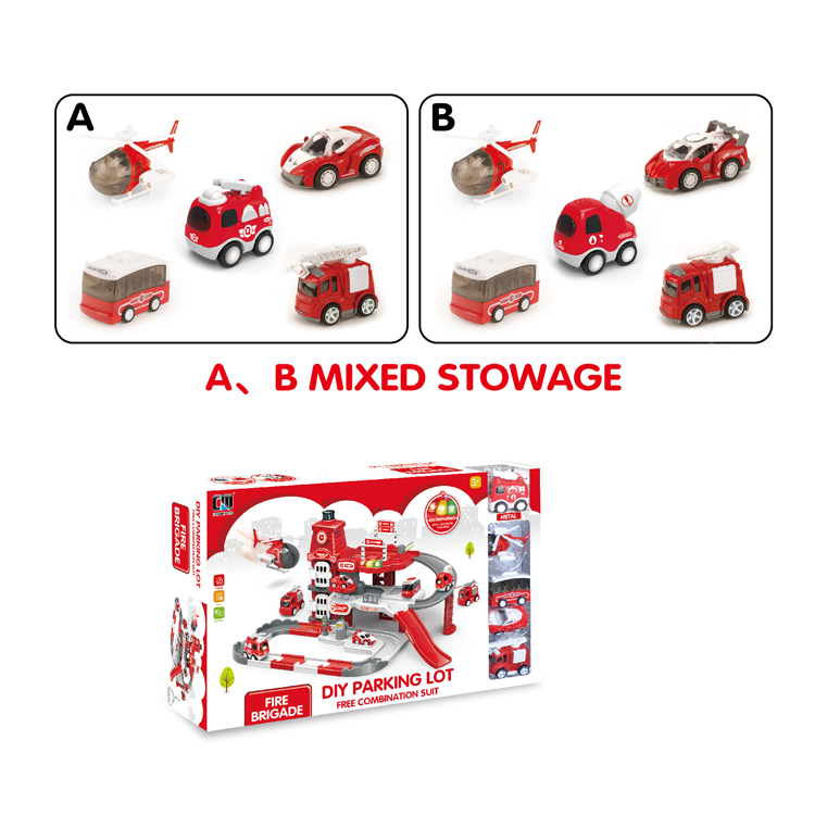 toy car parking lot B/O fire car parking lot toy set-2