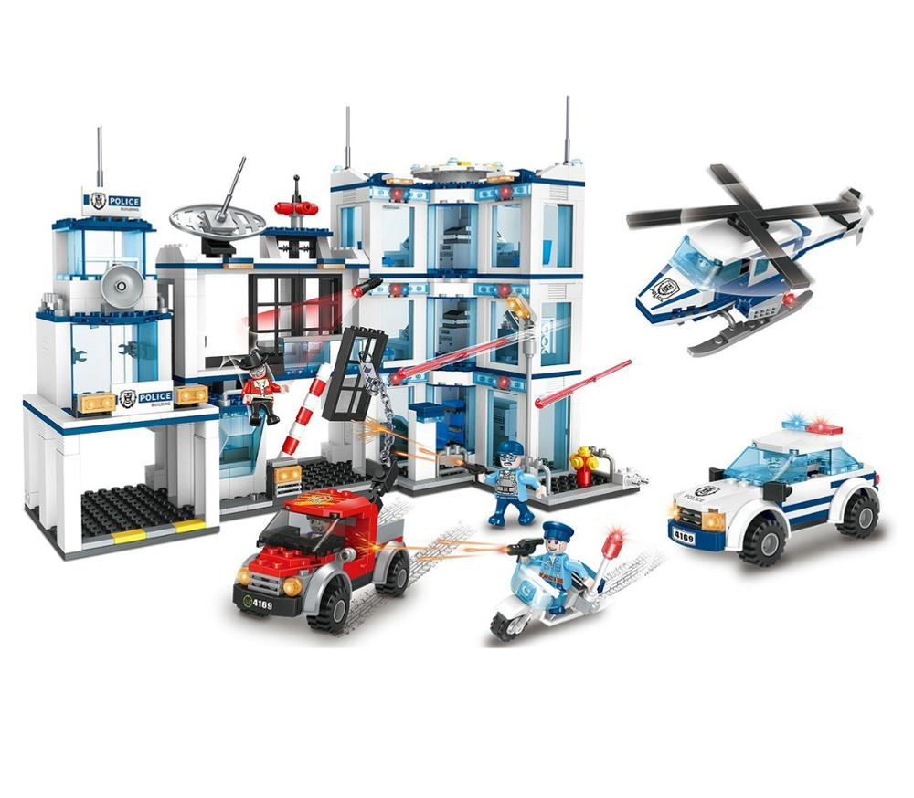 police station catching building block toys-1