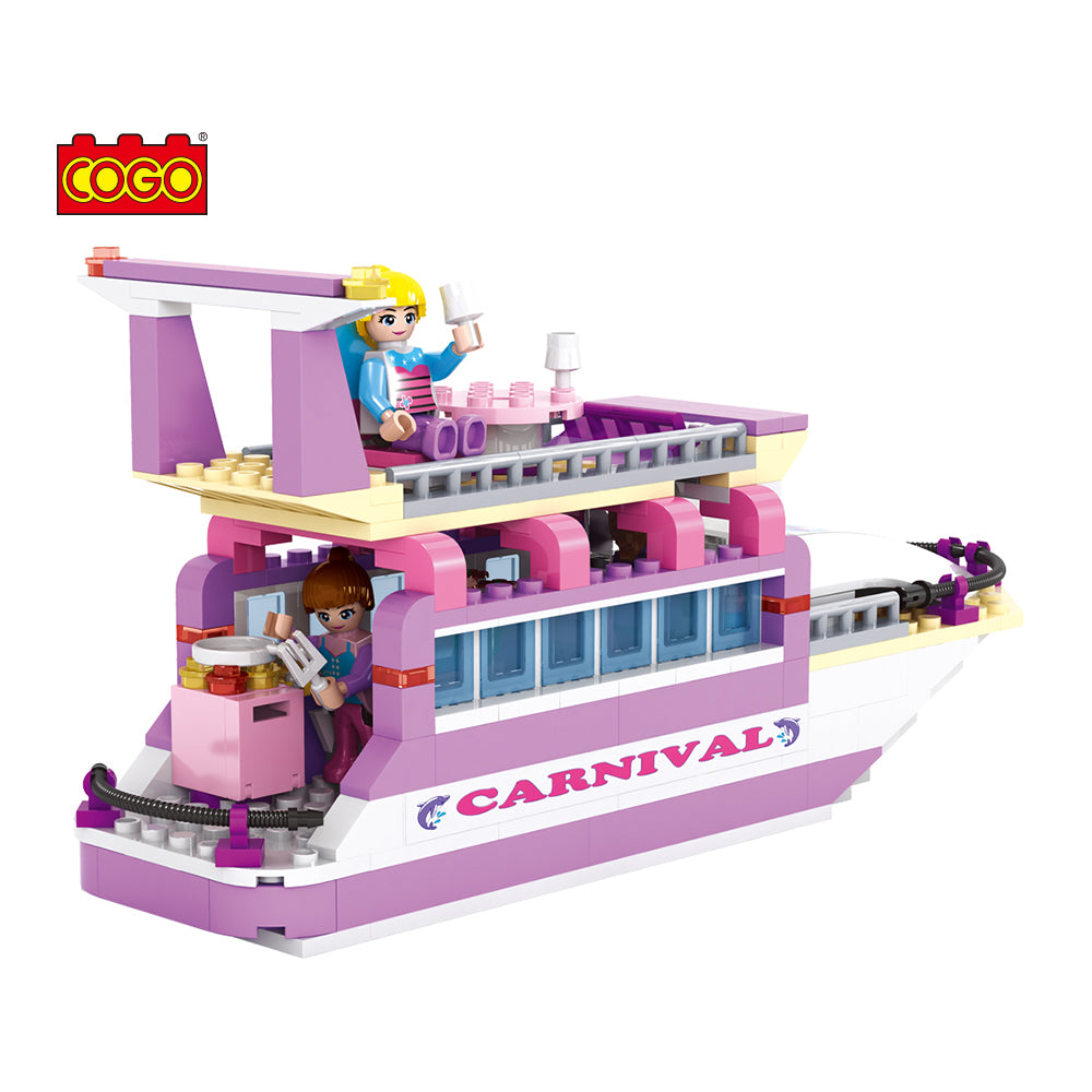 luxury boat model block toys-5
