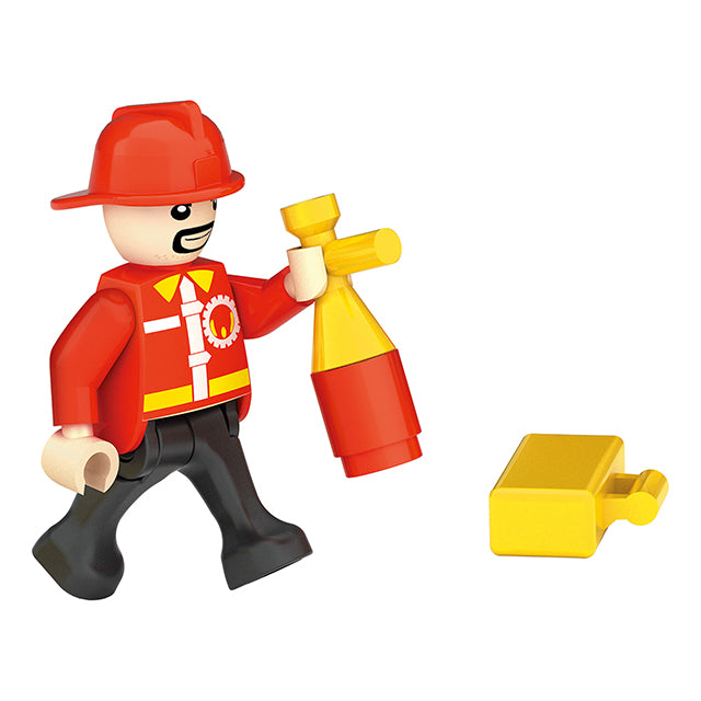 funny child fire toy plastic build block kid-4