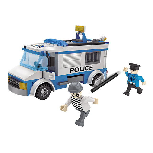 police car building brick-4