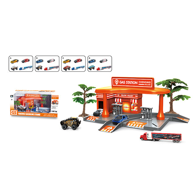 race car gas station toy gas filling station toy-1