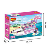 luxury boat model block toys-2
