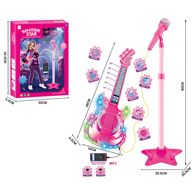 guitar toy for girl microphone toy-1