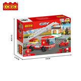 COGO legoingly kid toy brick 2020 kid block build Blocks toy Building Fire rescue truck-4