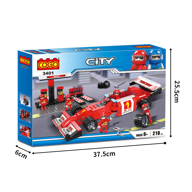 Factory sell build block racing car building blocks play set for kids-5