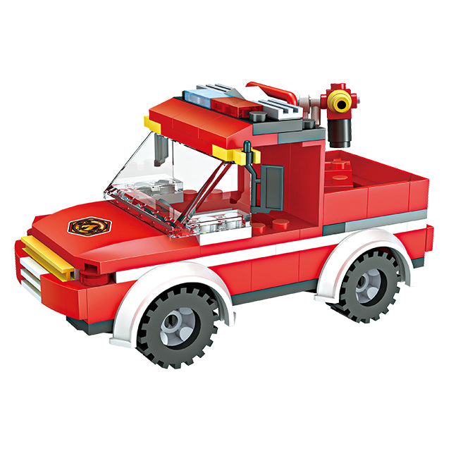 legoing fire fighting truck building block toys-5
