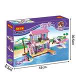 aBS city villa seaside assemble DIY building bricks toy for girl-6