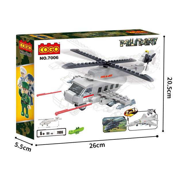 ABS blocks toys military helicopter blocks play toys-5