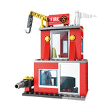 Fire station building block toys-5