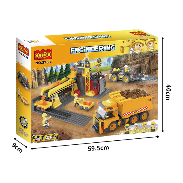 Engineering truck blocks toys Building Block DIY Construction for boys-3
