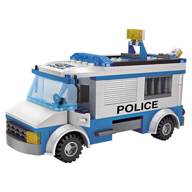 police car building brick-3