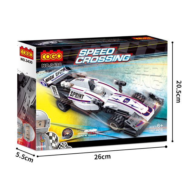 Popular boy style racing car building bricks toys kit-5