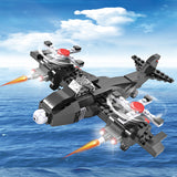 Crestive 3 in 1 fighter airplane building bricks kids toys set for gift-2