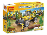 Creative 380pcs logging works engineering car enlighten bricks toys for children-4