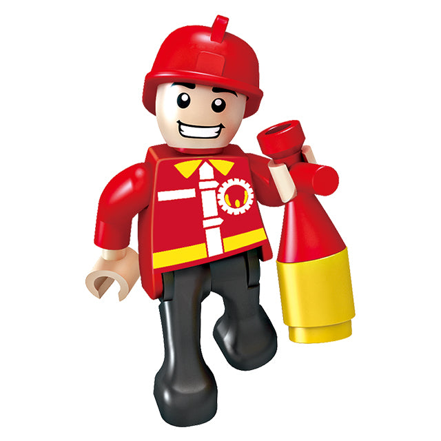 legoing fire fighting truck building block toys-3