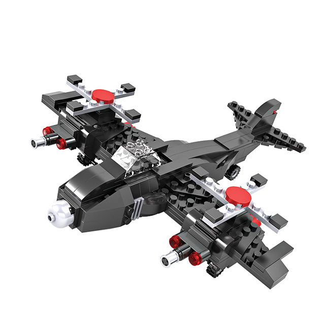 Crestive 3 in 1 fighter airplane building bricks kids toys set for gift-1