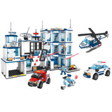 ABS police station educational build blocks toys for kids-1