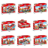 Crestive 8 in 1 fire combination enlighten building bricks kids toys set for gift-5