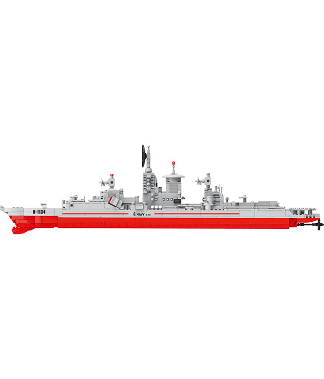 Military warship educational Building Blocks toys for kids-3