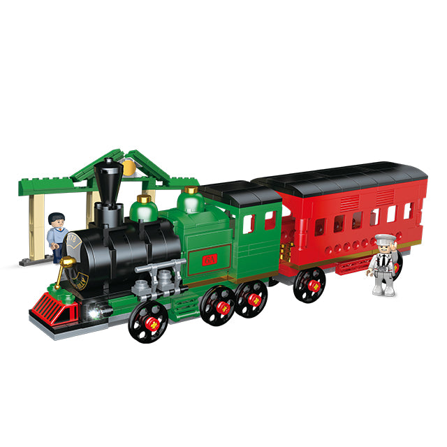 Plastic new train building puzzle blocks toys-3