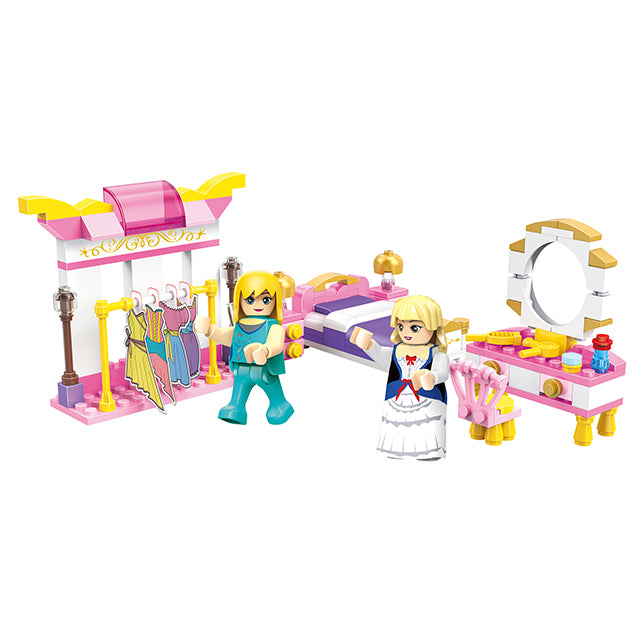 girls wardrobe building blocks toys-1