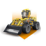Creative 380pcs logging works engineering car enlighten bricks toys for children-2