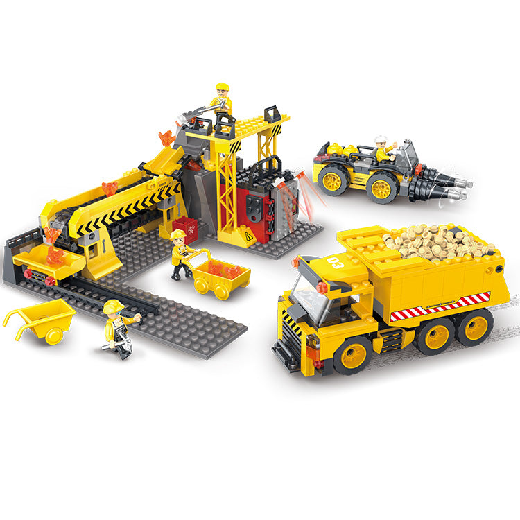 Engineering truck blocks toys Building Block DIY Construction for boys-1