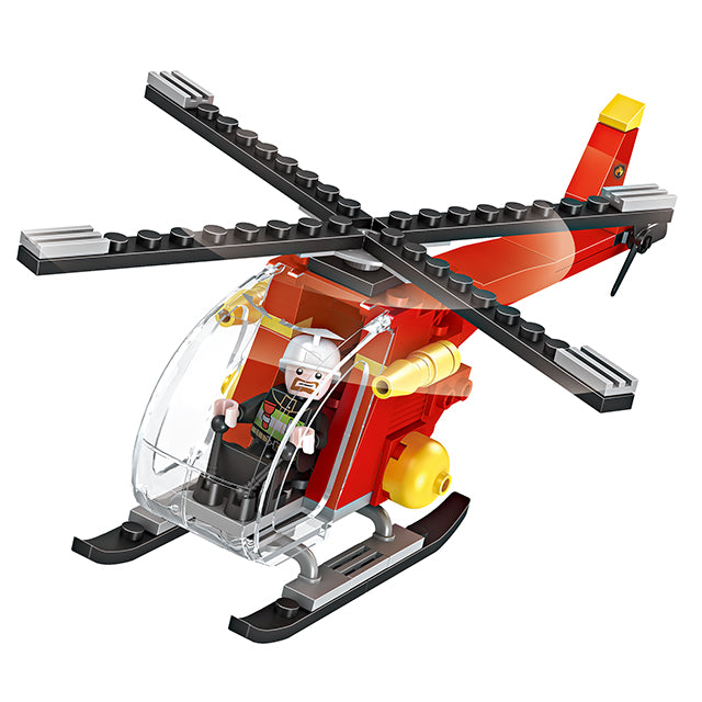 New style fire station puzzle building bricks kids toys set for gift-3