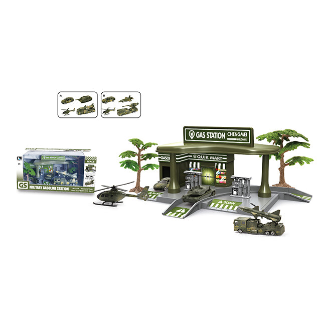 military car gas station toy gas filling station toy-1