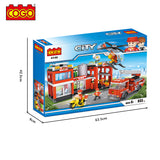 plastic building blocks building blocks brick toy for fire station set-4
