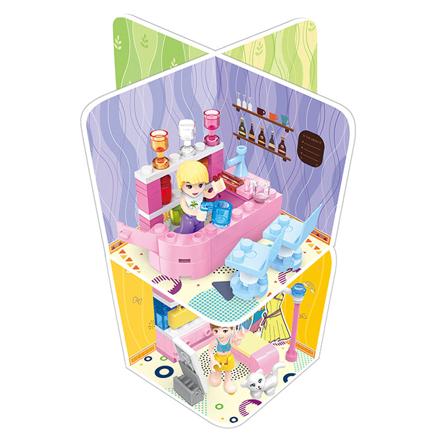 Plastic city play house brick toy for girl-1