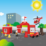 plastic duplo fire fighting Blocks toys for kids-2