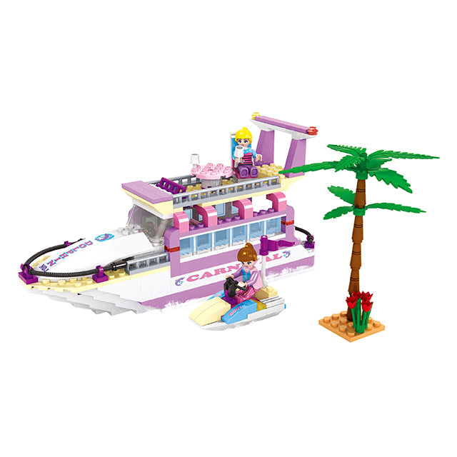 luxury boat model block toys-1