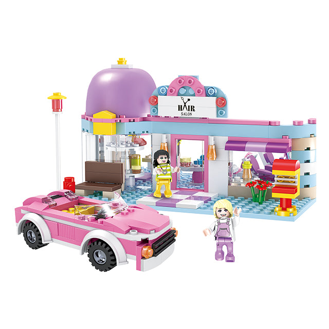 Hair salon building block toys-1