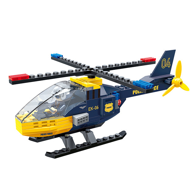police toy plane educational activity toy-1