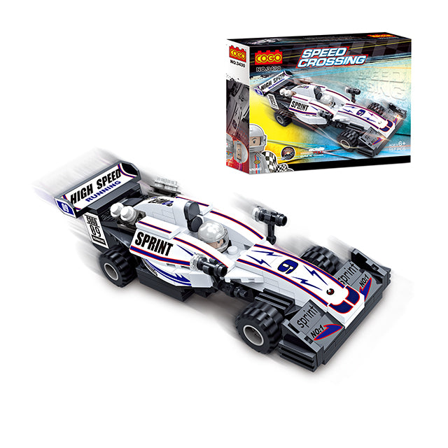Popular boy style racing car building bricks toys kit-2
