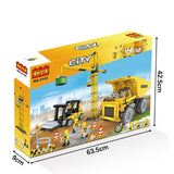 New engineering crane truck play toy build block kit-6