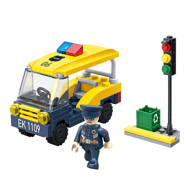 police car mini toy selling educational toys-1