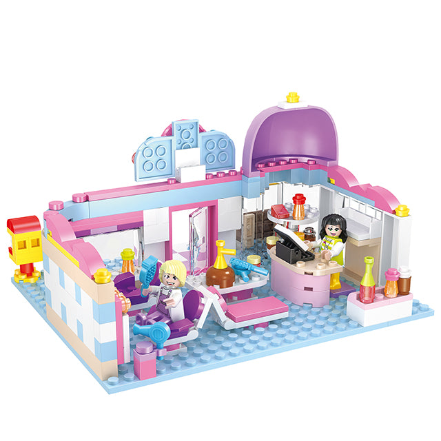 Hair salon building block toys-2