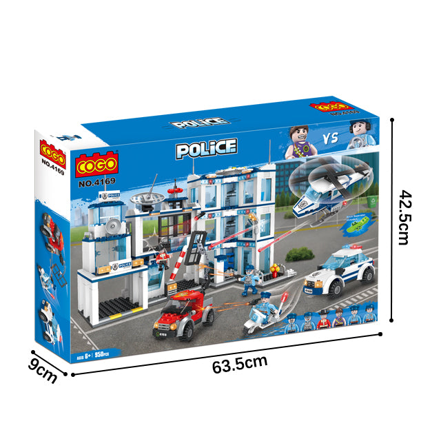ABS police station educational build blocks toys for kids-6