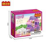 62pcs princess carriage building block toys-2