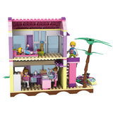 aBS city villa seaside assemble DIY building bricks toy for girl-4