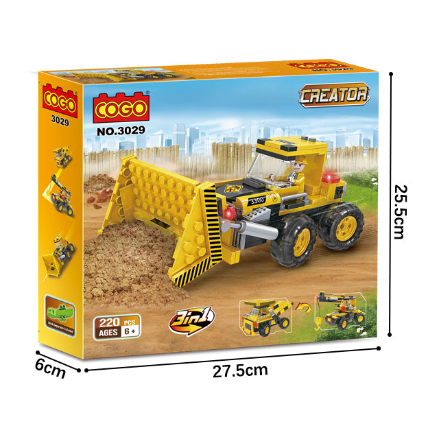 Popular 3 in 1 combination engineering crane truck play toy kit-5