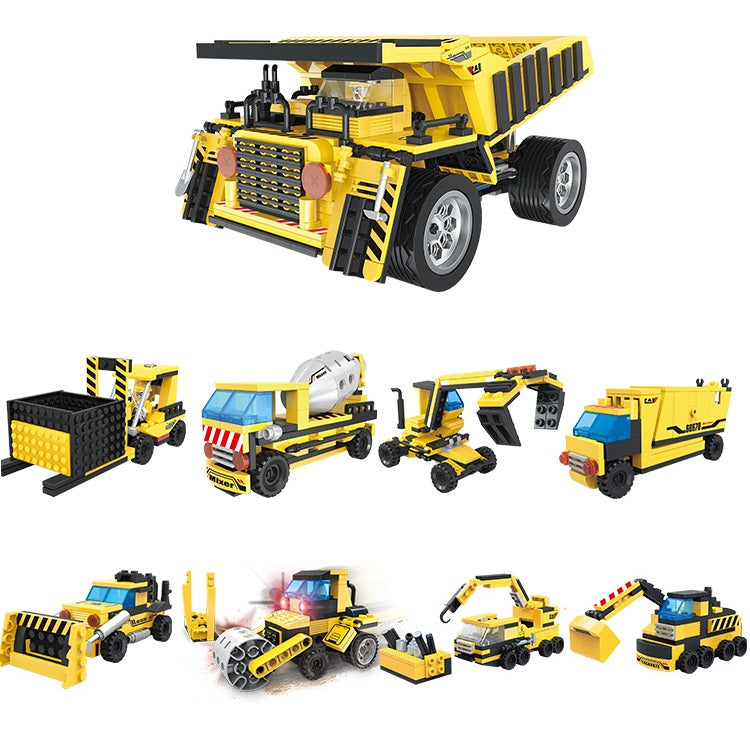 Creative free construction engineering car kids toys set for gift-1